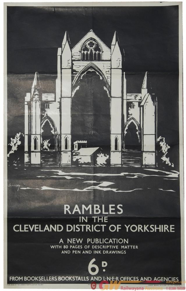 LNER Poster 'Rambles In The Cleveland District Of