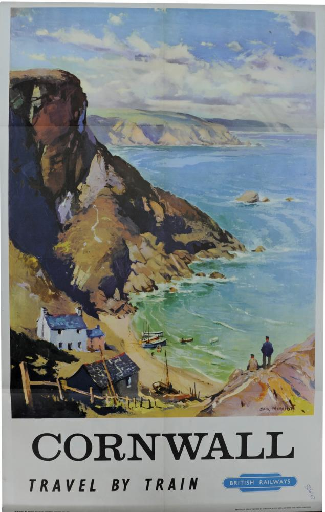 BR Poster, 'Cornwall' By Jack Merriott, Double