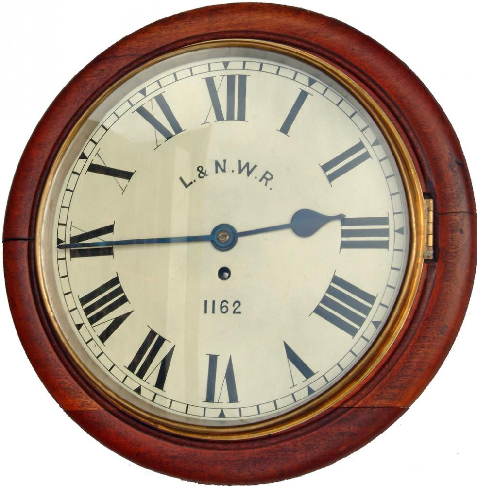 L&NWR 12 Mahogany Cased Fusee Clock, With Original