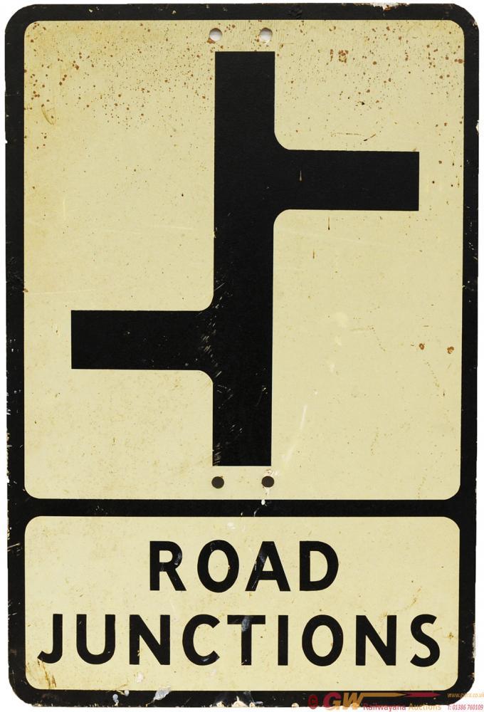 Motoring Road Sign ROAD JUNCTIONS. Screen Printed