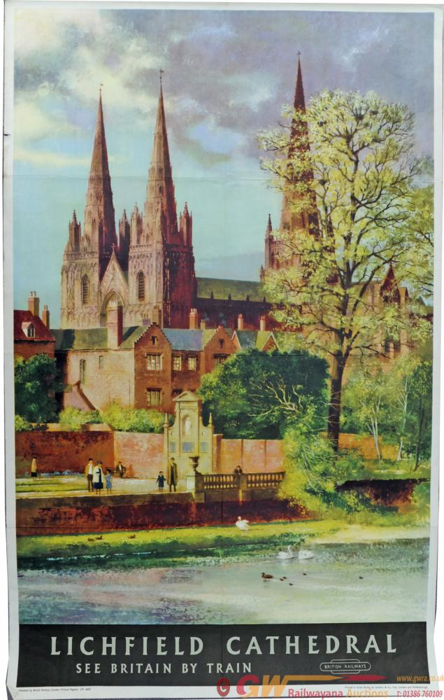 BR Poster 'Lichfield Cathedral' By John Green, D/R