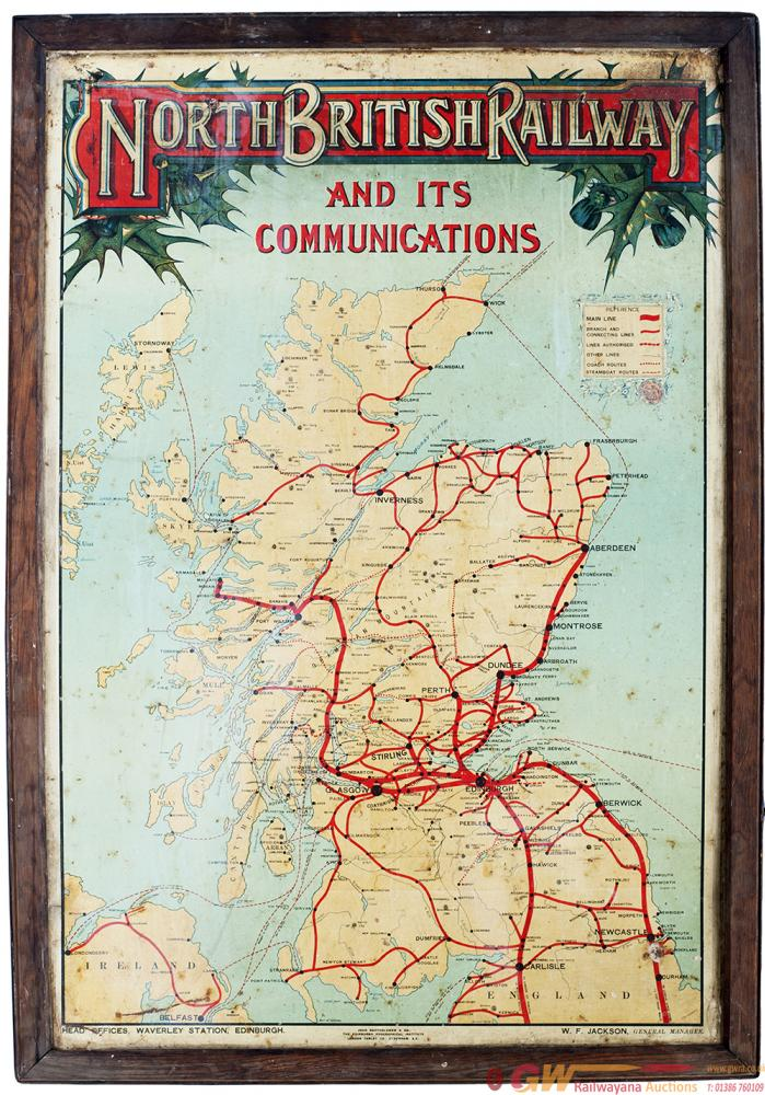 North British Railway Tinplate Map Of The System