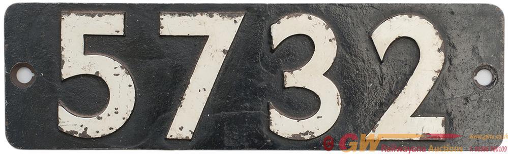 Smokebox Numberplate 5732 Ex GWR Collett 0-6-0 PT