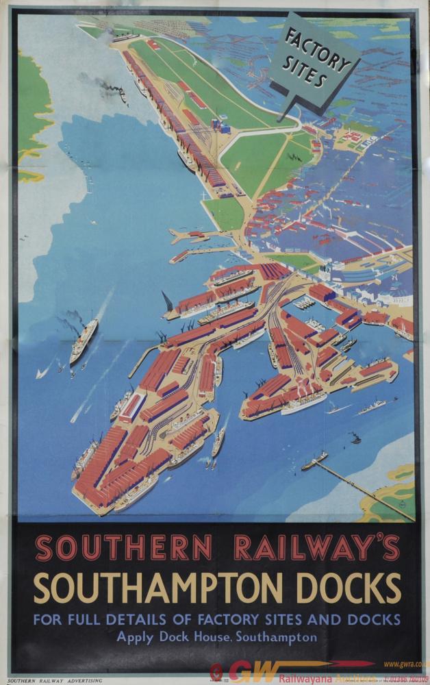 Poster Southern Railways 'Southampton Docks', By