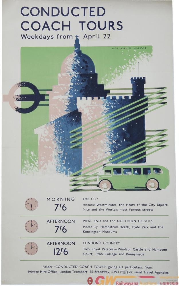 Poster London Transport 'Conducted Coach Tours -