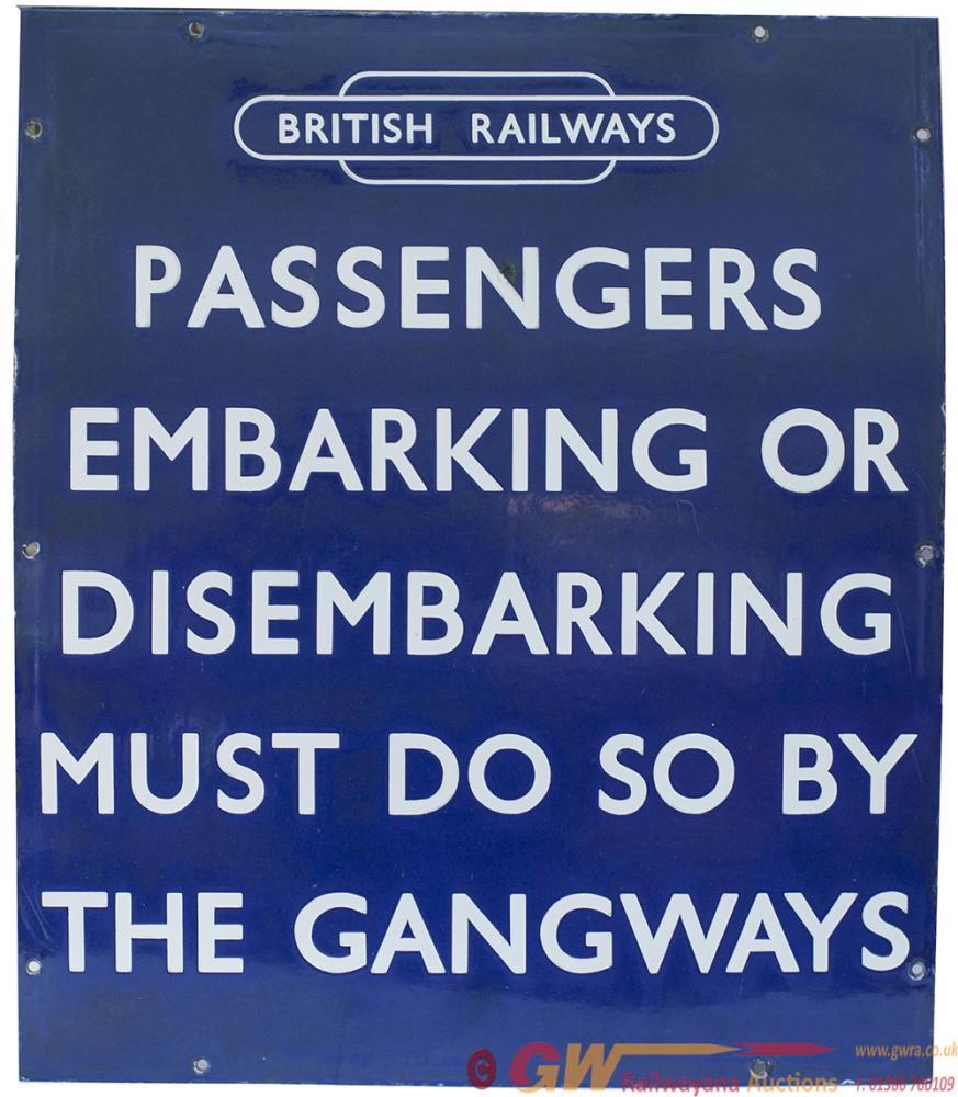 BR(E) Enamel Sign BRITISH RAILWAYS (In Totem)