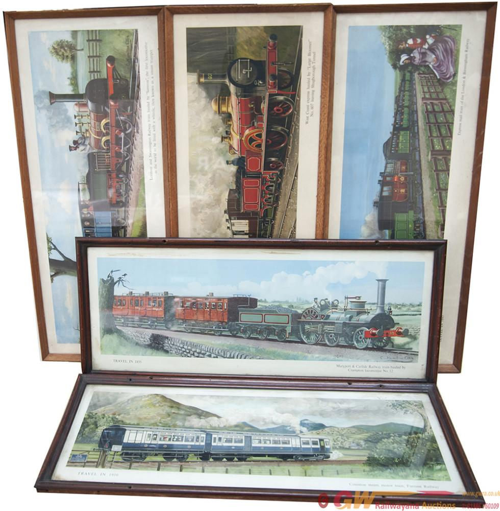 Carriage Prints x5, All Hamilton Ellis, From The