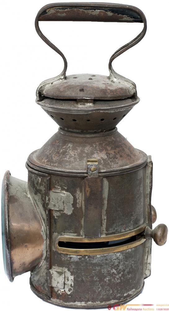 LNER/GER 3 Aspect Sliding Knob Handlamp, Stamped