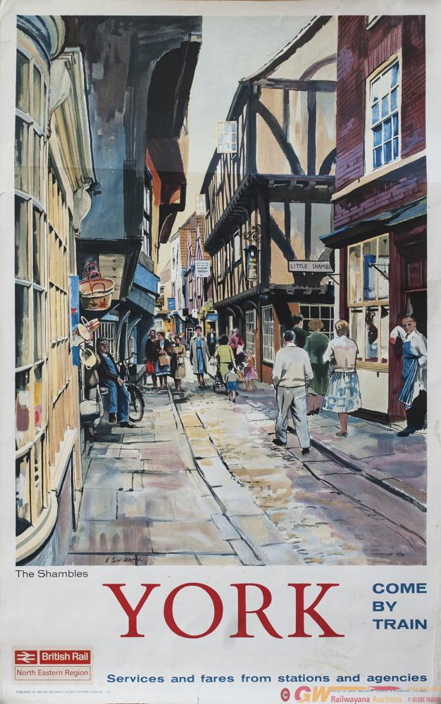 Poster BR(NE) YORK THE SHAMBLES By A. Carr Linford