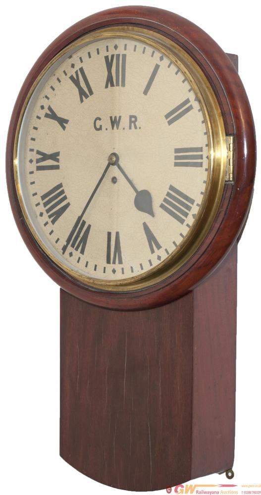 Great Western Railway Mahogany Cased Drop Dial 14