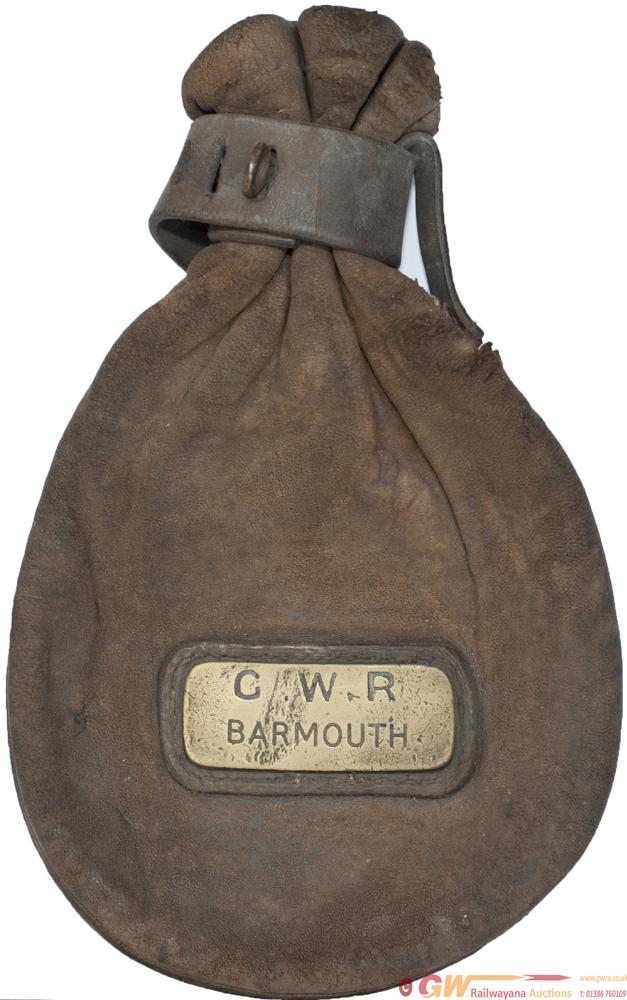 GWR Leather Cash Bag With Original Brass Plate GWR