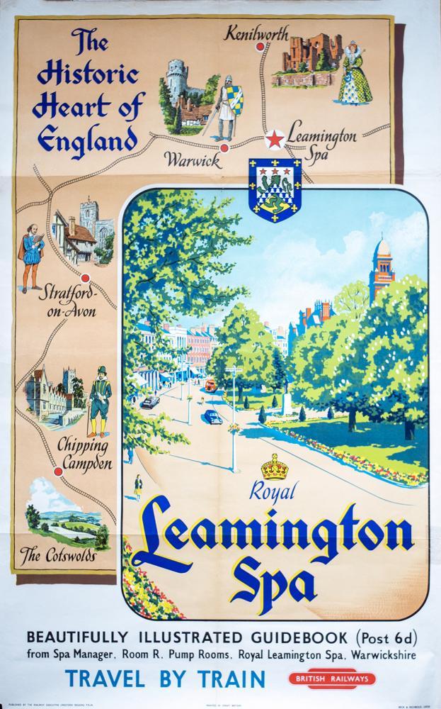 Poster BR(W) ROYAL LEAMINGTON SPA. Double Royal