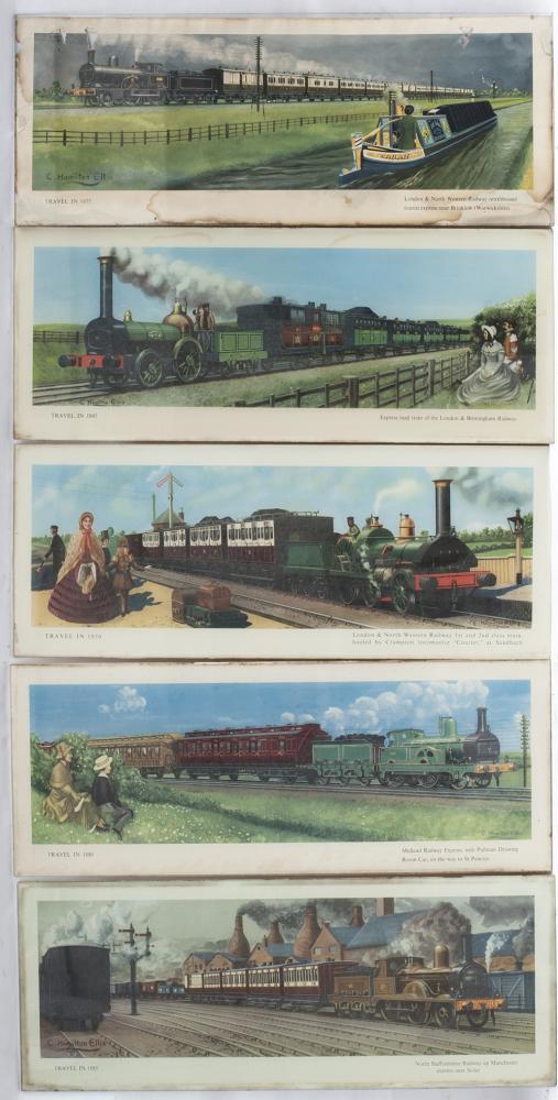 5 Original Hamilton Ellis Carriage Prints Still