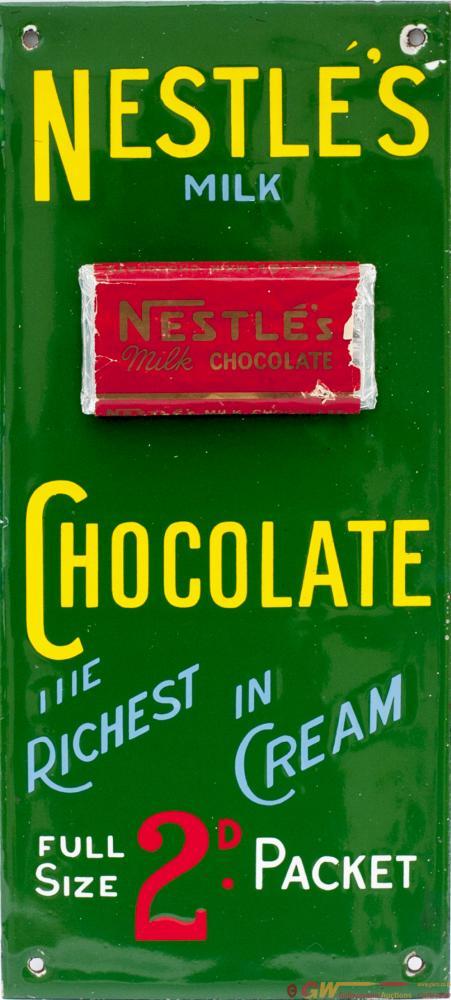 Advertising Enamel Sign NESTLE'S MILK CHOCOLATE