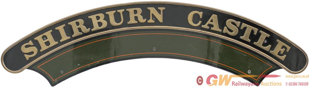 Nameplate SHIRBURN CASTLE Ex Great Western Railway