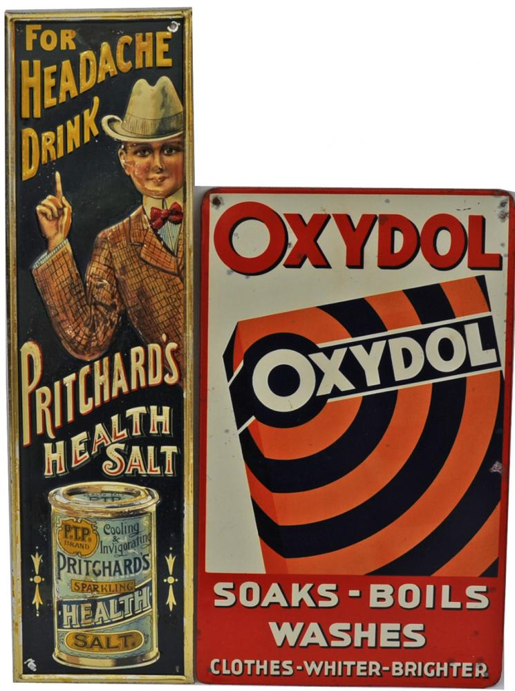 Tinplate Advertising Signs, Qty 2 Comprising: For