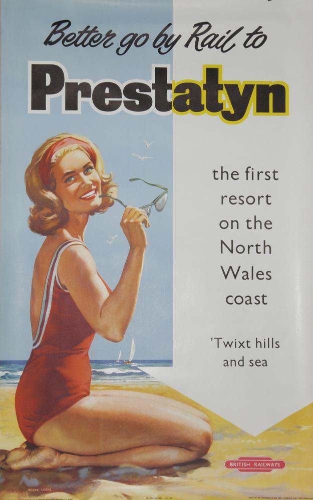 Poster, BR 'Better Go By Rail To Prestatyn - The