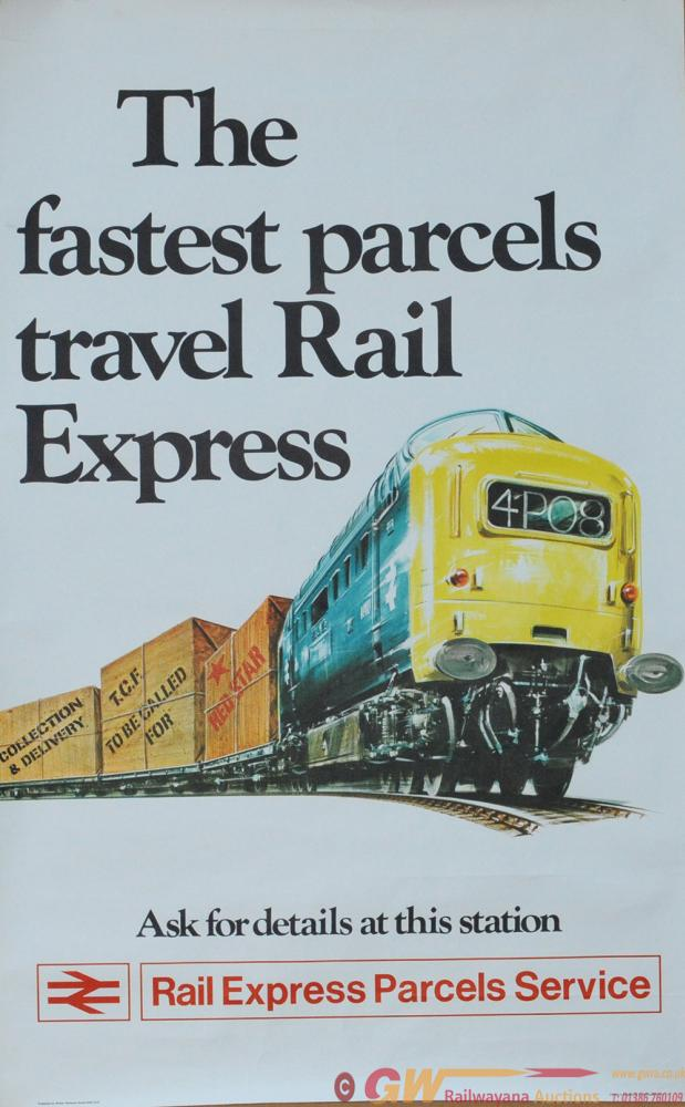 Poster 'The Fastest Parcels Travel Rail Express'