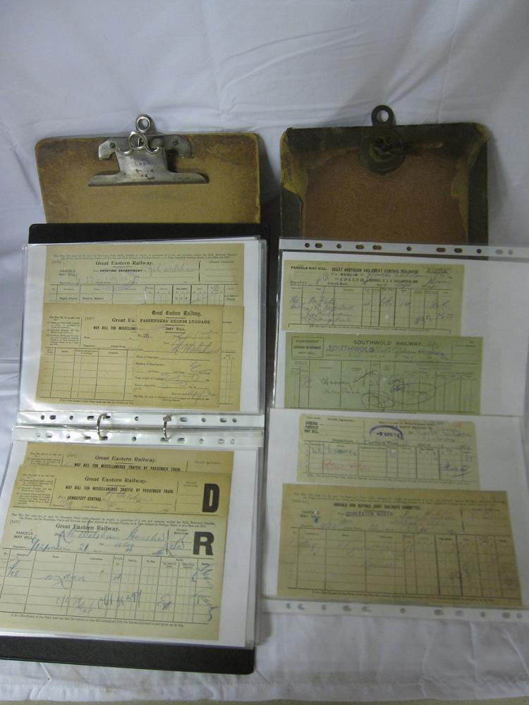 2 LNER Clip Boards. One Being The GE Brass Wing