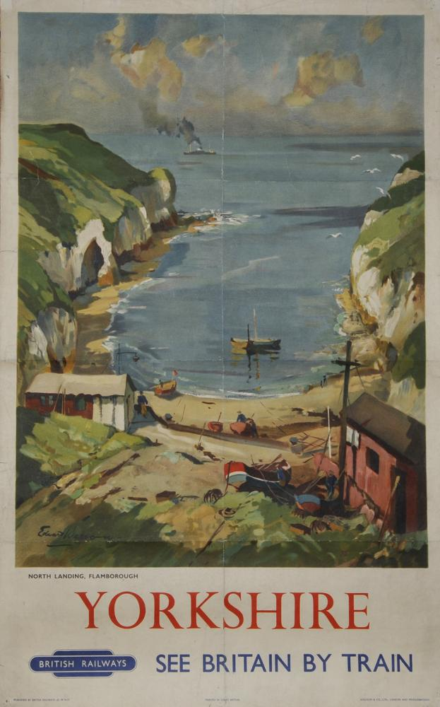 Poster 'Yorkshire North Landing Flamborough' By