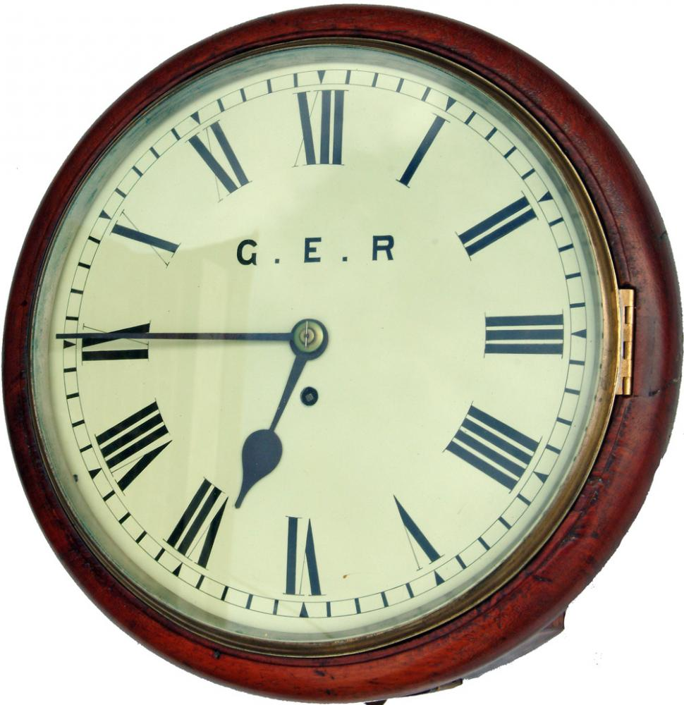 GER 12 Mahogany Cased Fusee Clock No 108 , With A
