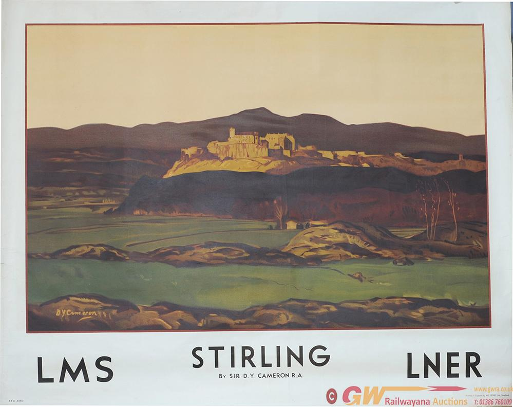Poster LMS & LNER 'Stirling' By Sir D.Y. Cameron