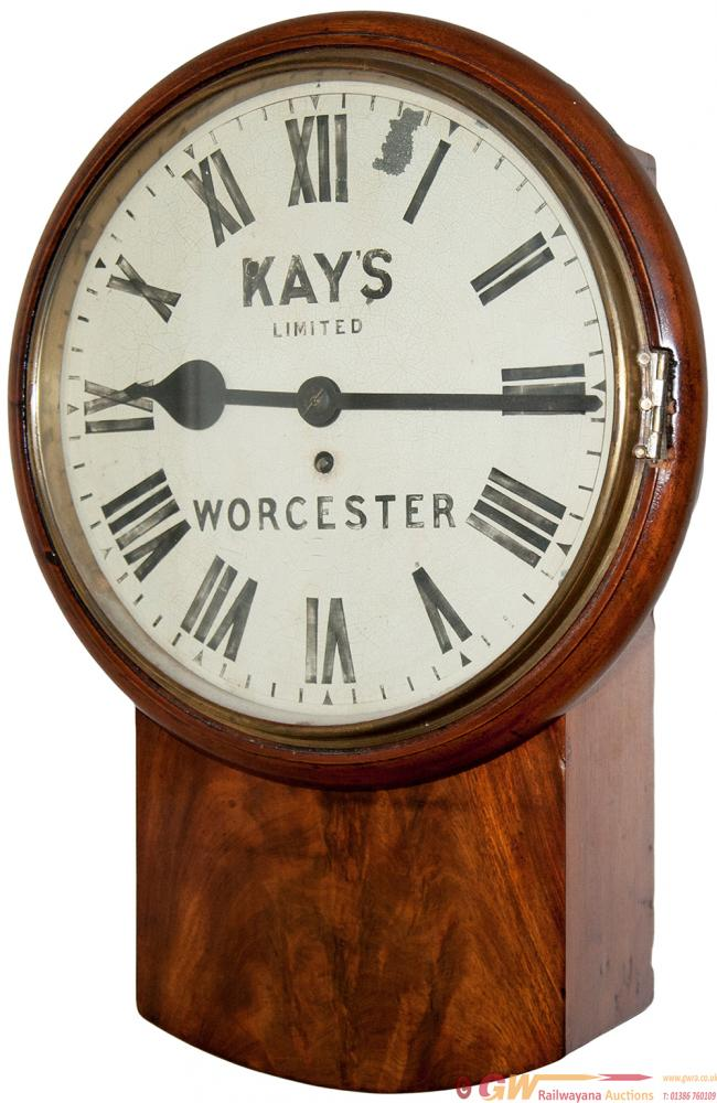 GWR 12in Mahogany Cased Drop Dial Fusee Clock With