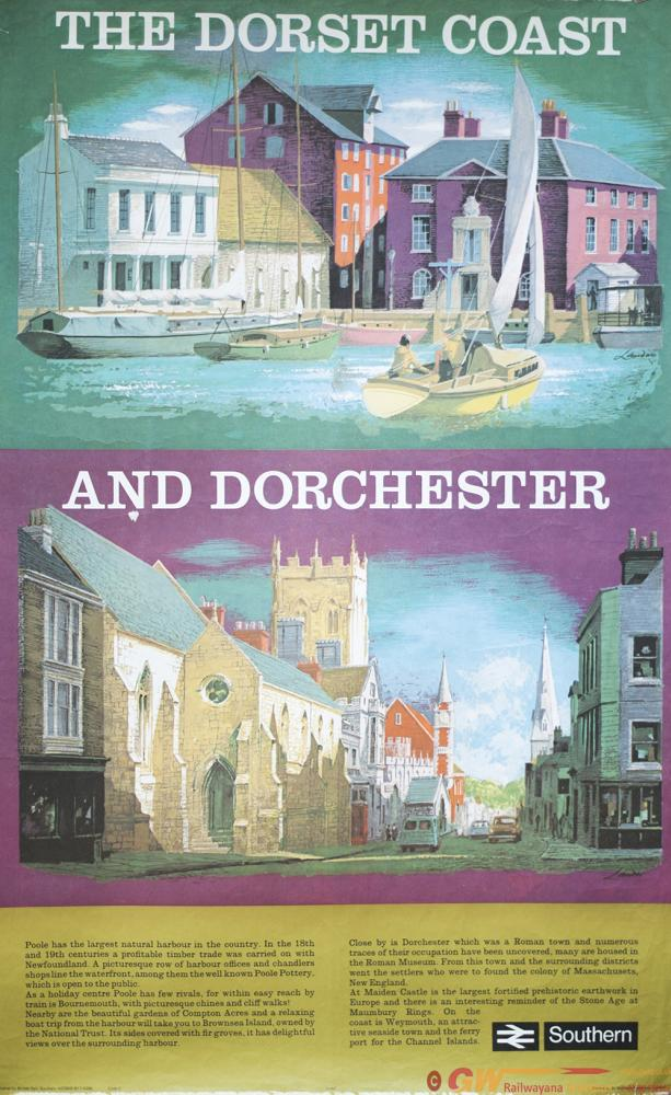 Poster BR(S) DORSET COAST & DORCHESTER By REGINALD