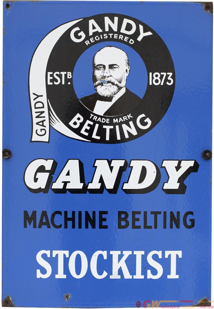 Advertising Enamel Sign GANDY MACHINE BELTING