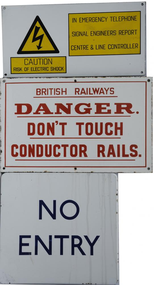 Enamel Sign Miscellany, Qty 5 To Include:- British