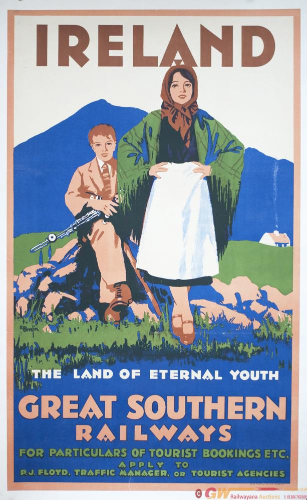 Poster GSWR(I) IRELAND THE LAND OF ETERNAL YOUTH