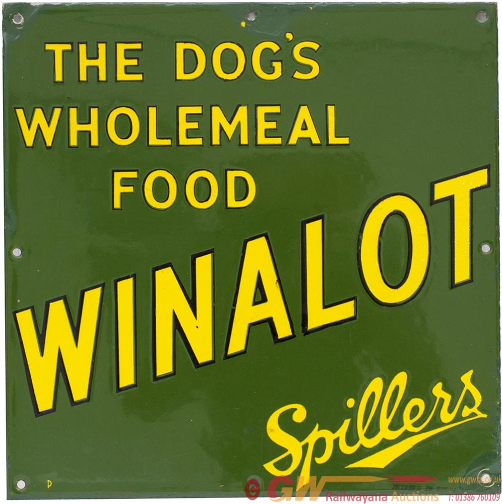 Advertising Enamel Sign THE DOG'S WHOLEMEAL FOOD