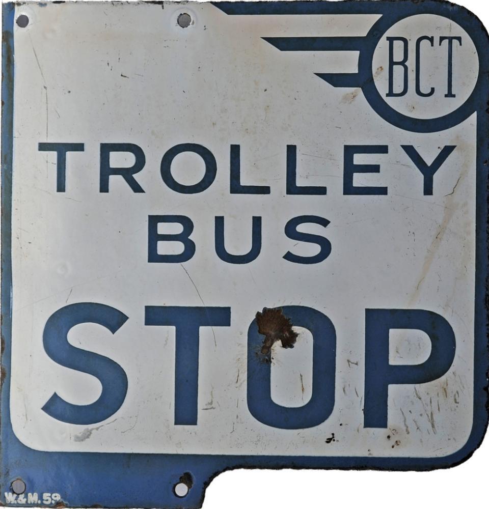 Enamel Bus Sign BCT (Bradford Corporation
