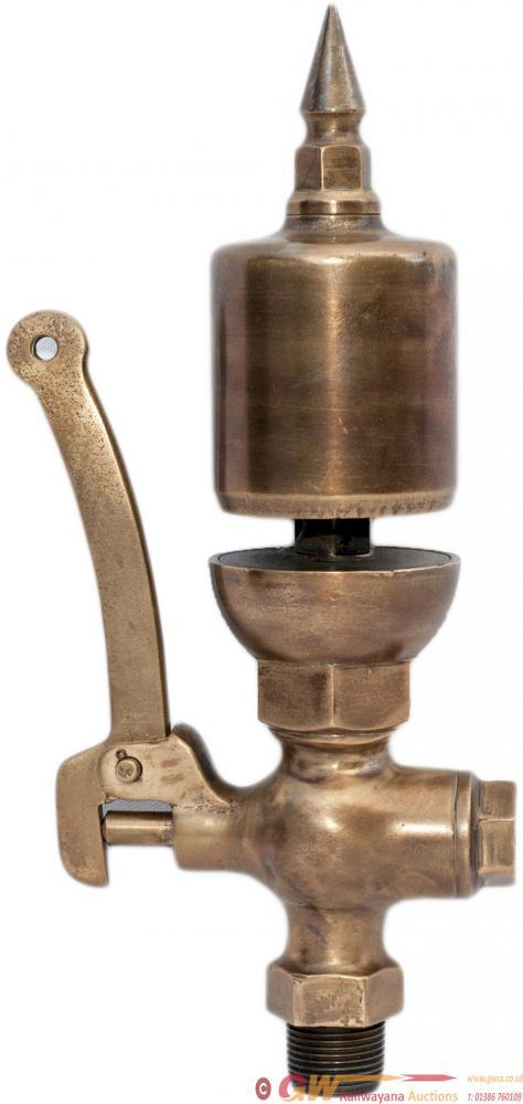 Brass Steam Locomotive Whistle Complete With Valve