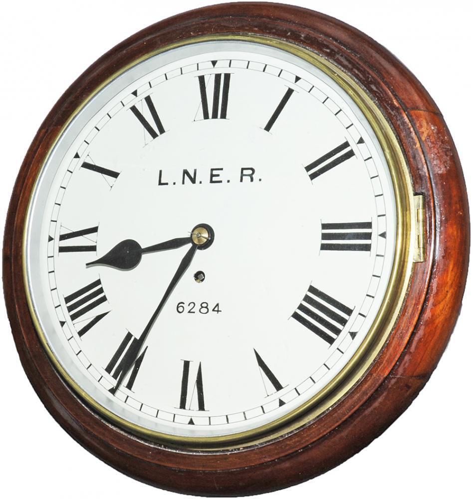 North Eastern Railway 12 Inch Mahogany Cased