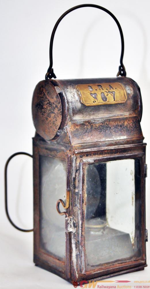 SE&CR Drum Top Small GP Lamp. Stamped On Rear