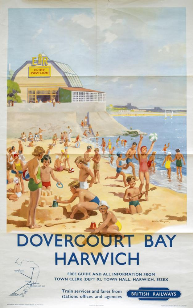 Poster BR(E) DOVERCOURT BAY HARWICH By W. M.