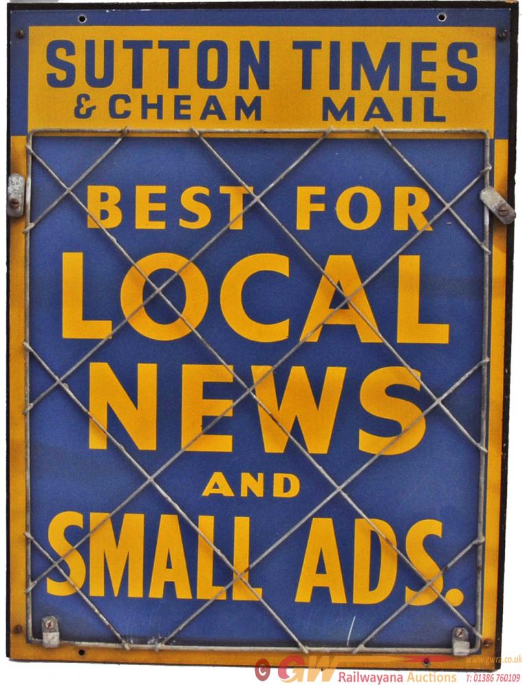Newspaper Advertising Signs, Qty 4 Comprising: