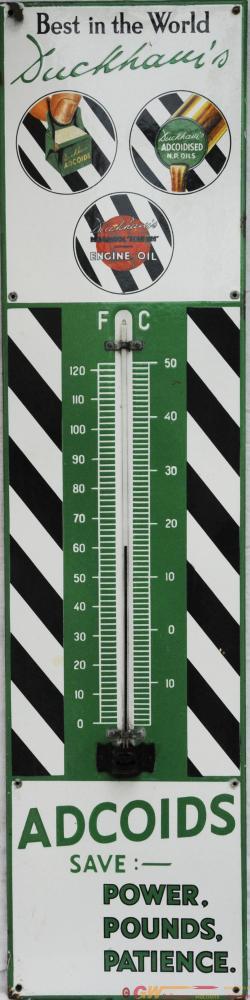 Advertising Enamel Thermometer 'Duckhams Adcoids',