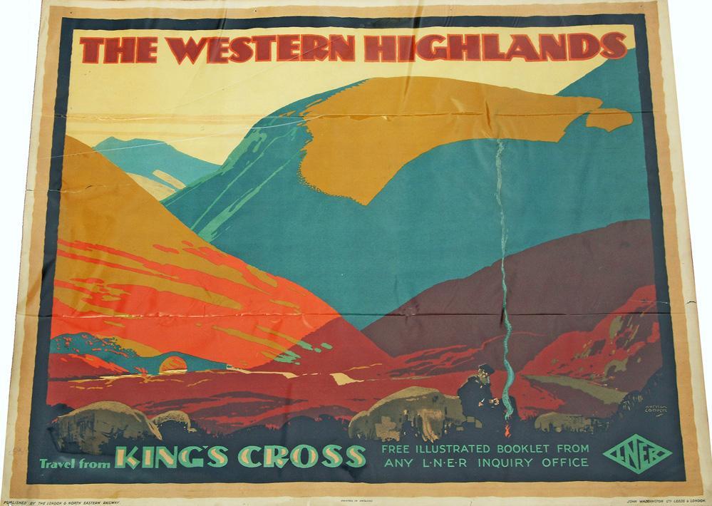 Poster, LNER Q/R The Western Highlands - Travel
