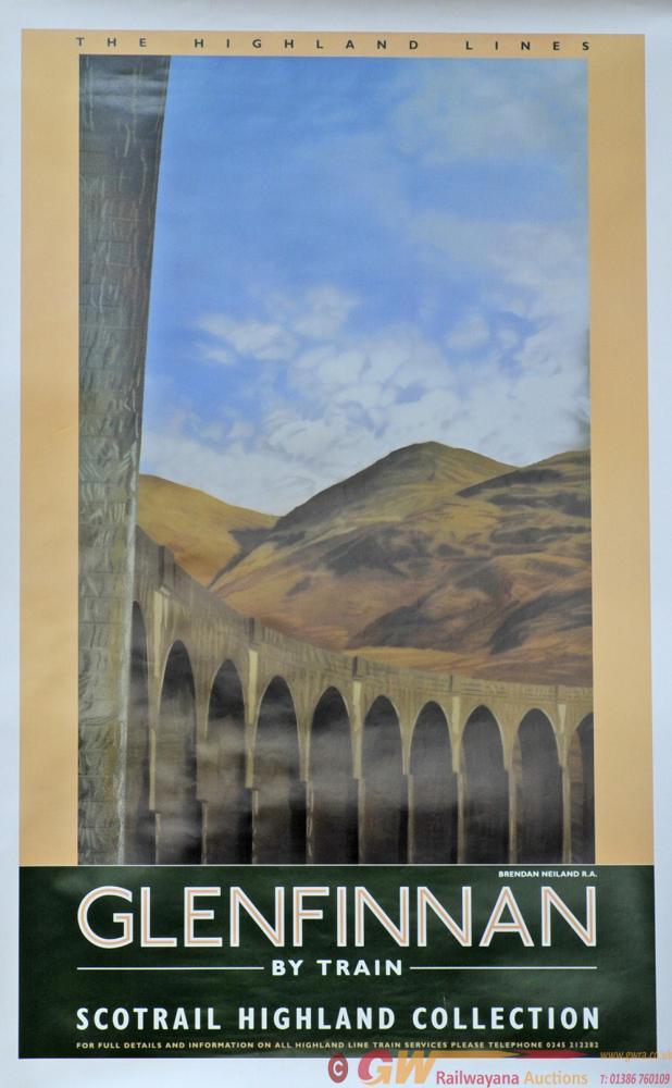 Poster 'Glenfinnan By Train - Scotrail Highland