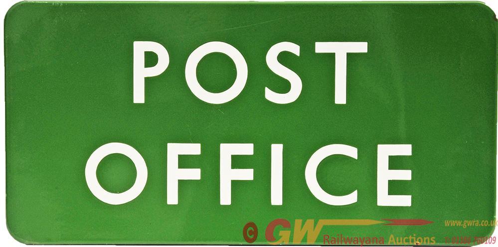 BR(S) Enamel Platform Sign POST OFFICE Fully
