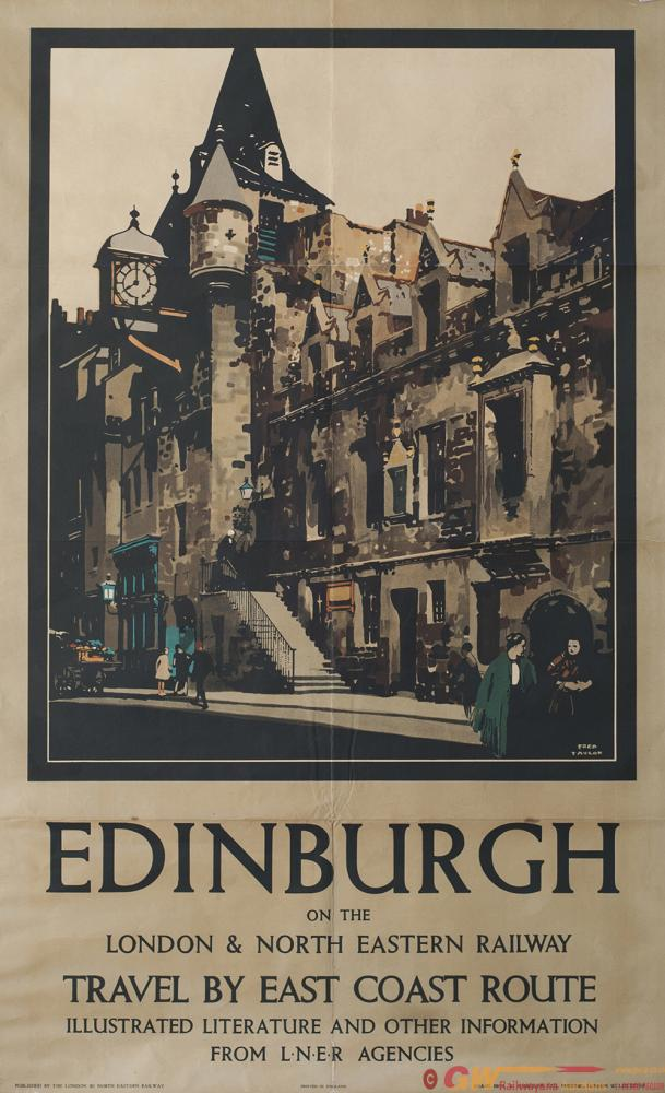 Poster LNER EDINBURGH ON THE LONDON AND NORTH