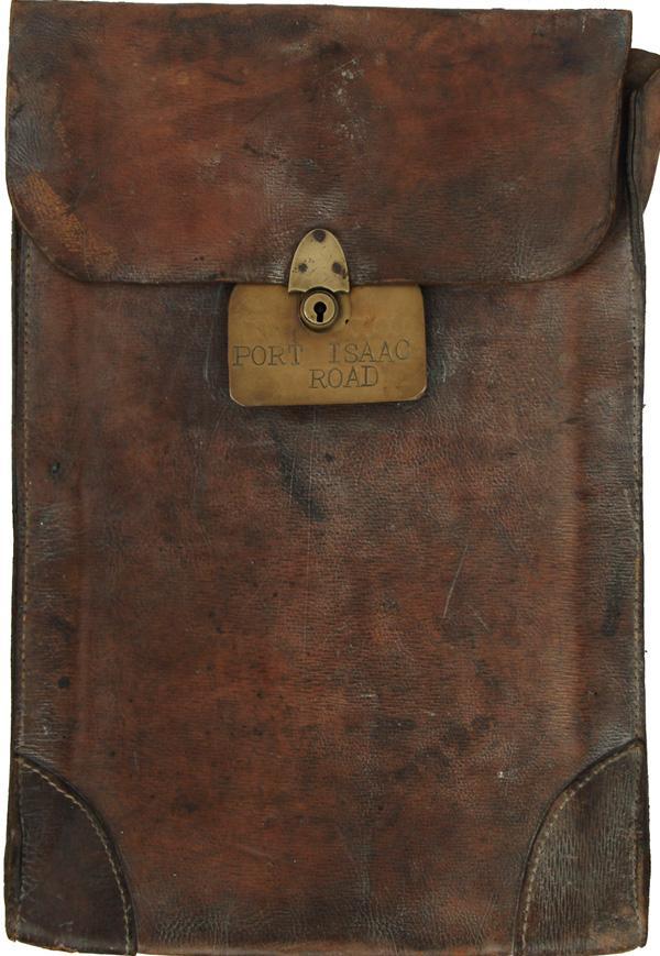 LSWR/SR Leather Document/Cash Bag Bearing Brass