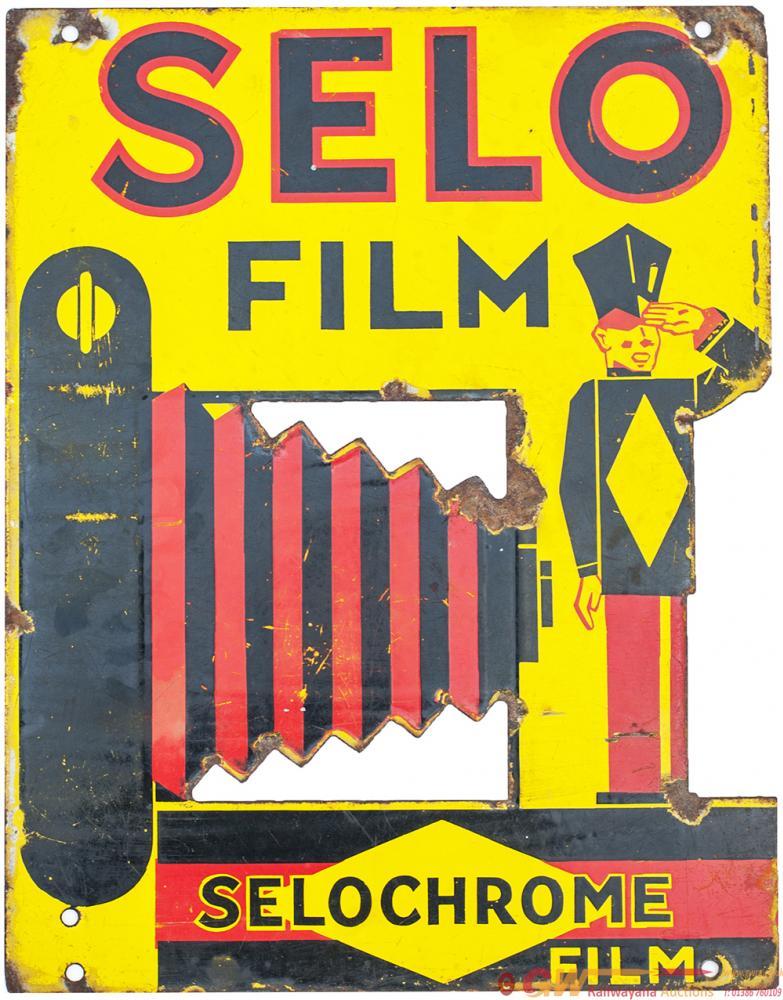 Enamel Advertising Sign SELO FILM SELOCHROME FILM.