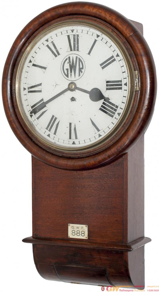 GWR 12in Mahogany Cased Drop Dial Trunk Fusee