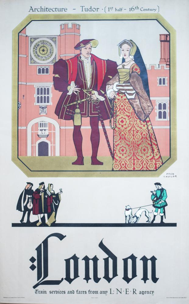 Poster LNER LONDON ARCHITECTURE - TUDOR (1st HALF