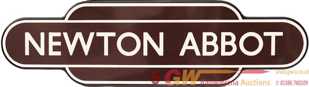 Totem BR(W) NEWTON ABBOT F/F. Ex GWR Devon Station