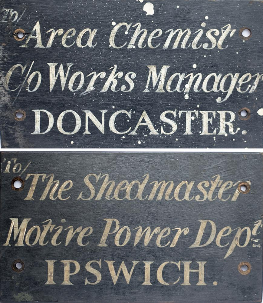 LNER Wooden Sign, Sign Written One Side TO