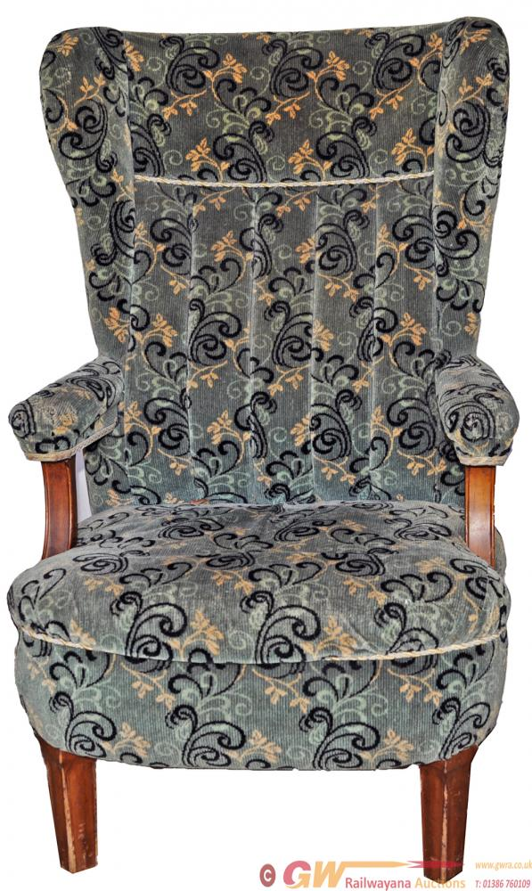 Pullman Upholstered Arm Chair In Good Original